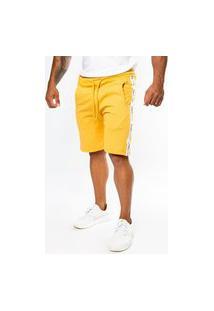 Bermuda Short Moletom Color Summer Premium Mostarda