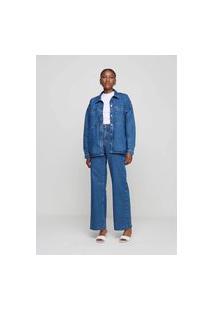 Camisa Jeans Feminina Denim E-Co2 Denim - Azul