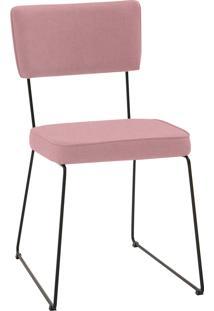 Cadeira Roma Aço Tecido Daf Coral