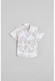 Camisa Bb Onça Reserva Mini Masculina - Masculino-Branco
