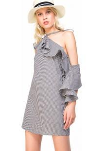Vestido Amaro Estampa Xadrez Vichy - Feminino