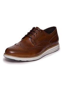 Sapato Brogue Mazuque - Moca 107065