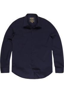 Camisa Khelf Elastano Azul Marinho