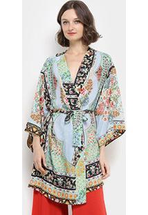 Kimono Farm Tepih Feminino - Feminino-Azul