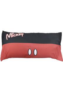 Fronha Mickey Mouse® - Preta & Vermelha - 90X45Cm