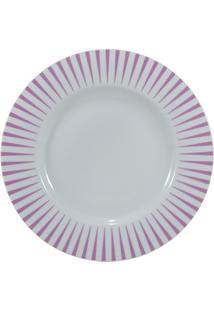 Prato Para Sobremesa Porcelana Schmidt - Dec. Sol Rosa