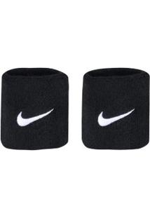 Munhequeira Nike Swoosh Wristbands C2 - Adulto - Preto/Branco