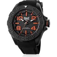 e4bbbf20cac Relógio Pulso Everlast Force Caixa Abs Pulseira Silicone -  Masculino-Preto+Laranja
