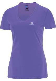 Camiseta Comet Ss P Roxa Feminina - Salomon