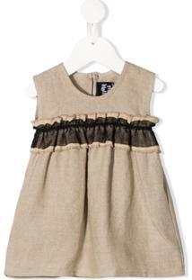 Infantium Victoria Vestido Com Acabamento De Babados - Neutro