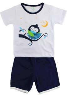 Pijama Lovatinho Corujinha Branco