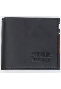 Carteira Star Wars Recortes Com Caixa De Metal