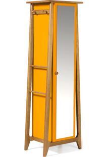 Armario Multiuso Stoka Cor Amendoa Com Amarelo - 31596 - Sun House