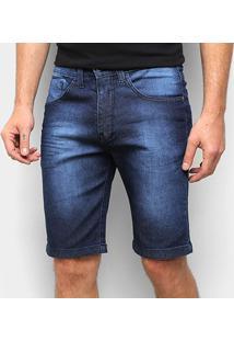 Bermuda Jeans Onbongo Estonada Masculina - Masculino-Azul