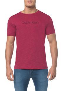 Camiseta Regular Basica Flame Mescla Rosa Escuro Camiseta Regular Basica Flame Mescla - Rosa Escuro - M