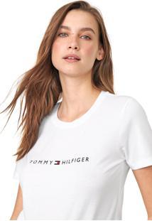Camiseta Tommy Hilfiger Essential Crew Neck Branca