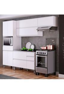 Cozinha Compacta Belíssima Plus 9 Pt 4 Gv Branca E Grantito Slate