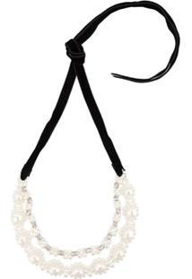 Simone Rocha Embellished Short Necklace - Branco