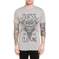 53d215763a400 Camiseta Chess Clothing Cinza Mescla - Masculino