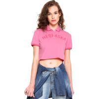 7937221410722 Camisa Polo Calvin Klein Jeans Cropped Nebraska Rosa