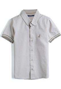 Camisa Carinhoso Menino Lisa Cinza