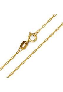 Corrente Cartier Alongada Em Ouro Amarelo 40 Cm