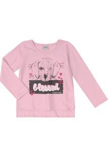 Blusa Blusa Infantil Rovitex Estampada Menina Rosa - 2