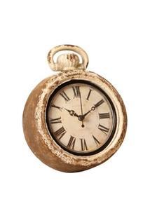 Relógio De Parede Decorativo Santos Dumont De Madeira Envelhecido - Unissex