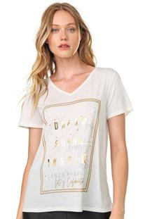 Camiseta Lança Perfume Estampada Off-White