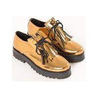 736af2f37f Off Premium. Sapato Oxford Metalizado Cobre