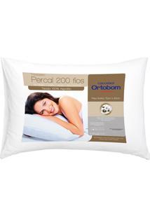 Travesseiro Em Percal Com 200 Fios 50X70Cm Branco