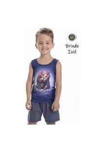 Pijama Regata Urso Infantil Menino - Toque Kids