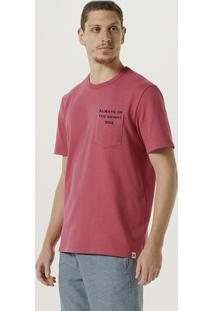 Camiseta Masculina Manga Curta Em Malha Encorpada