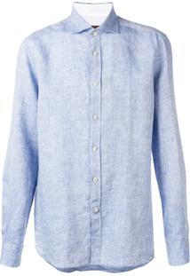 Corneliani Camiseta Leve - Azul