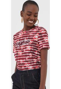 Camiseta Cantã£O Margot Vermelha - Vermelho - Feminino - Poliã©Ster - Dafiti