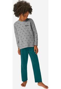 Pijama Cinza Vespa Super Filho