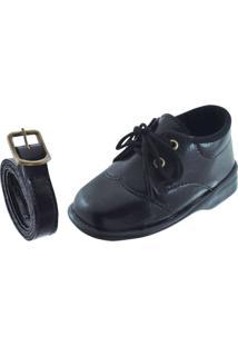 Sapato Social Pekenos Mimos 3000 Preto - Masculino