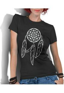 Camiseta Criativa Urbana Filtro Dos Sonhos - Feminino-Preto