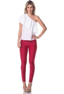 Calça Gisele Freitas Skinny Modeladora Vermelha