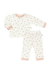 Pijama Longo Estampado Plush - Anjos Baby Salmão Claro