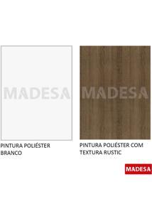 Rack Madesa Metz 69145Z09 Rustic/Branco Se