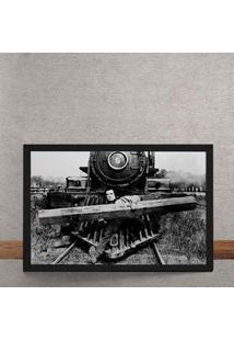 Quadro Decorativo O Trem 25X35