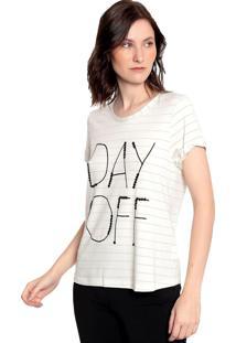 T-Shirt Malha Listrada Energia Fashion Natural