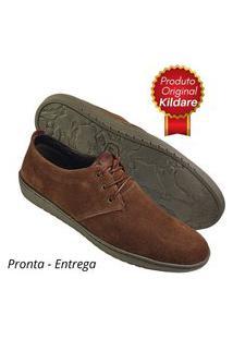 Sapato Masculino Kildare Marrom Camurça Original Nf 5206 Malte