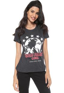Camiseta Coca-Cola Jeans World Famous Grafite