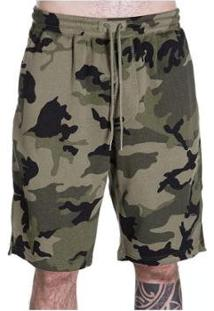 Bermuda Linoleum Camuflada Militar - Masculino-Verde