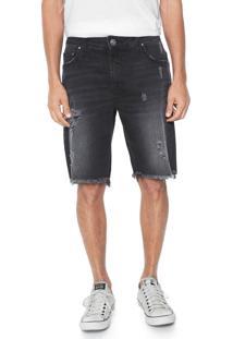Bermuda Jeans Colcci Davi Reta Preto