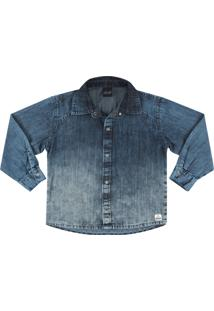 Camisa Look Jeans Degrad㪠Jeans - Azul - Menino - Dafiti