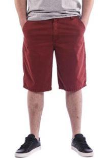 Bermuda Masculina De Sarja Beagle - Masculino-Vermelho