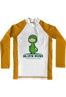 Camiseta De Lycra Comfy Alien Amarela